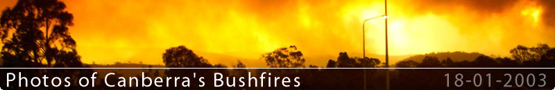 Canberra's bushfire photos